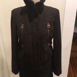 Zara Basic Brown Wool Jacket